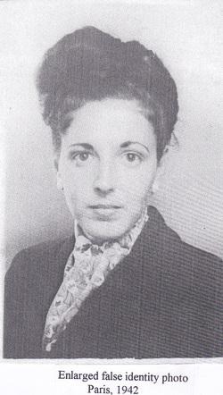 Enlarged false identity photo, Paris, 1942